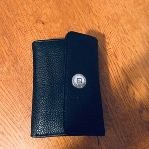 Authentic Stone Mountain tri-fold black wallet